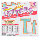 TREND, I Heart Metal Copper and Patina Playful Ready Letters Combo Pack, 4 Inches, Copper and Teal, 216 Pieces