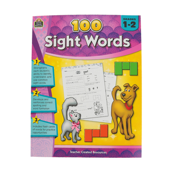 Teacher Created Resources, 100 Sight Words, Paperback, 128 Pages, Grades 1-2