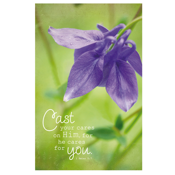Salt & Light, Cast Your Cares On Him Church Bulletins, 8 1/2 x 11 inches Flat, 100 Count