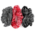 Iron Orchid Studio, Bandana Patterned Hair Scrunchies, 1 Each of 3 Designs