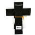 Lighthouse Christian, Baptized in Christ Tabletop Cross, Resin, White, 5 1/2 x 7 1/2 Inches