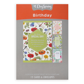 DaySpring, Insects and Flowers Birthday Boxed Cards, 12 Cards with Envelopes