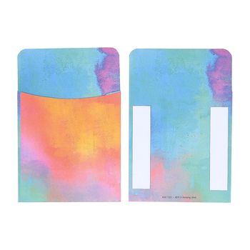 Retro Chic Collection, Self-Adhesive Library Pockets, Multi-Colored, 3.5 x 5.25 Inches, Pack of 25