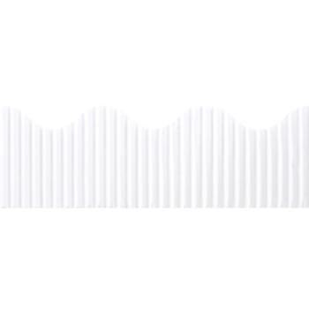 The Fine Touch, Corrugated Border Trim, 50 Feet, White