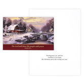 DaySpring, Thomas Kinkade, Psalm 29:11 Farmhouse Christmas Boxed Christmas Cards, 7 3/4 x 5 1/16 inches, 18 cards