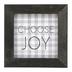 P. Graham Dunn, Choose Joy Buffalo Check Tabletop Plaque, Gray & White, 5 x 5 inches