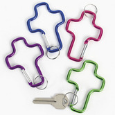 Fun Express, Aluminum Cross Key Chains, Bag of 12