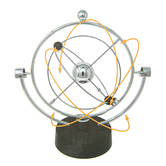 Electronic Perpetual Motion Machine, Silver, 8 3/4 x 4 1/4 x 9 1/2 inches