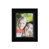 Plastic Expression Scoop Photo Frame, Black, 5 x 7 inches