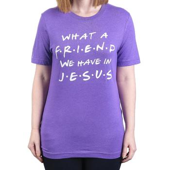 Ruby's Rubbish, What A Friend, Women's Short Sleeve T-shirt, Purple Heather, S-2XL