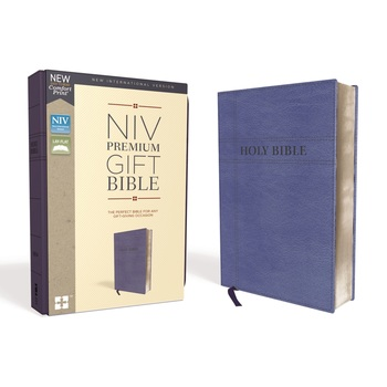 NIV Premium Gift Bible, Imitation Leather, Blue