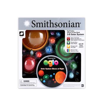Smithsonian, Full Color Glow-in-the-Dark 3-D Solar System Science Kit