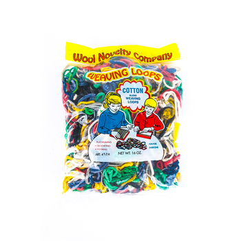 Wool Novelty Co., Cotton Blend Weaving Loops, Assorted Colors, 16-ounces