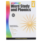 Carson-Dellosa, Spectrum Word Study and Phonics Workbook, Paperback, 176 Pages, Grade 4
