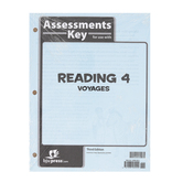 BJU Press, Reading 4 Assessments Answer Key, 3rd Edition, Grade 4