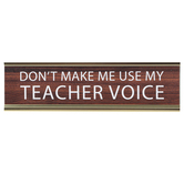 Mardel, Teacher Voice Nameplate, Brown, White, and Gold, 8 x 2 x 1