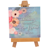 Abbey and CA Gift, It's A Blessing To Have A True Friend In You Plaque, Wood, 5 1/2 inches