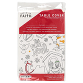 Renewing Faith, Christmas Coloring Table Cover, Paper, 72 x 40 inches