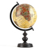 Antique Globe with Wood Stand, Beige, 14 3/4 x 8 1/4 Inches