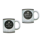 Schoolgirl Style, Industrial Cafe Motivational Coffee Mugs Colorful Cut-Outs, 5.1 x 4.3 Inches, 36 Pieces
