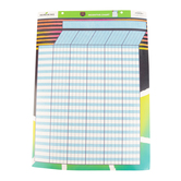 Deja Denim Collection, Customizable Incentive Chart, 17 x 22 Inches, Multi-Colored, 1 Each