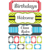 Isabella Collection, Customizable Classroom Bulletin Board Set, Multi-colored, 35 Pieces