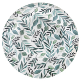 Brother Sister Design Studio, Greenery Large Paper Plates, White and Green, 10 1/2 inches, Set of 20