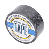 Black Glitter Art Project Mini Washi Tape, 3/4 inches x 5 yards, 1 Roll