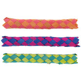 Brother Sister Design Studio, Finger Traps, 1 x 6 Inches, Assorted Colors, Pack of 12