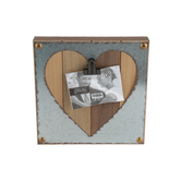 Green Tree Gallery, Cut Out Heart Clip Frame, for 5 x 3 1/2 inch Photo, 10 1/2 x 10 1/2 inches