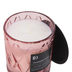 Darsee & David's, Cashmere Petals Diamond Patterned Jar Candle, Pink, 10 Ounces