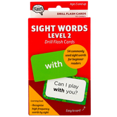 The Brainery, Sight Words Level 2 Drill Flash Cards, 55 Cards, 3.25 x 5.25 Inches, Grades K and up