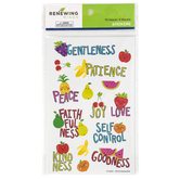 Renewing Minds, Fruit Of The Spirit Stickers, Assorted Colors, Pack of 75