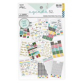 the Paper Studio, agenda 52 Calendar Foiled Sticker Pack, 613 Stickers