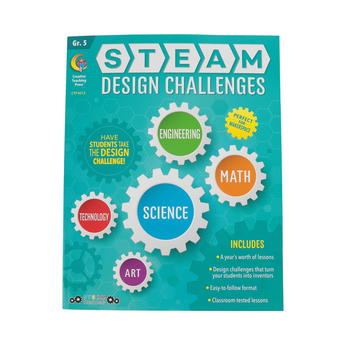 Creative Teaching Press, STEAM Design Challenges Resource Book Grade 5, Paperback, 152 Pages