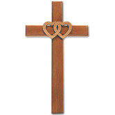 Beveled Cross With Hearts
