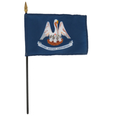Annin & Company, Louisiana State Flag with Rod, 6 x 4 Feet, Multi-Colored, 2 Pieces