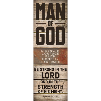 Salt & Light, Man of God Bookmarks, 2 x 6 inches, 25 Bookmarks