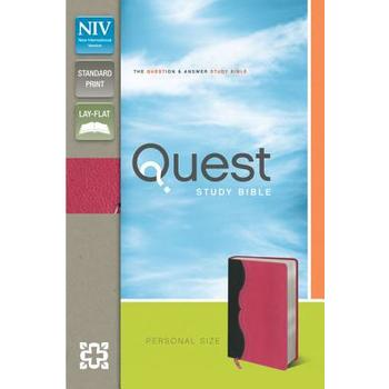 NIV Quest Study Bible, Personal Size, Duo-Tone, Charcoal and Pink