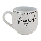 Lighthouse Christian, Artisan Doodles Friend Mug 1 Thess 5:11, Ceramic, White and Black, 16 Ounces