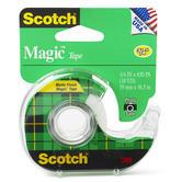Scotch, Magic Tape in Dispenser, .75 x 650 Inches, Clear, 1 Roll