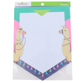 Renewing Minds, Llama Shaped Notepad, 6-1/2 x 8 Inches, Navy, pink, and Teal, 50 Sheets