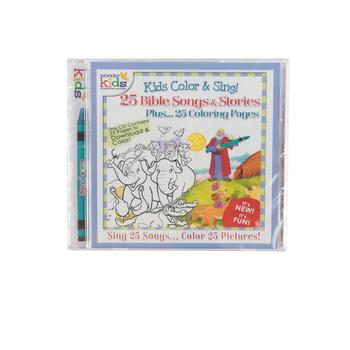 Kids Color & Sing!: 25 Bible Songs & Stories, by Wonder Kids, CD