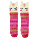 Natural Life, Unicorn Cozy Critter Socks, Polyester, One Size Fits Most