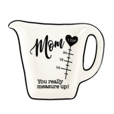 Divinity Boutique, Cherished Woman Mom Measuring Cup Spoon Rest, White & Black, 4 1/4 x 5 1/2 inches