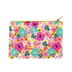 Lady Jayne, Bright Floral Cosmetic Pouch, 5 3/8 x 8 Inches