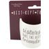 Pavilion Gift, Sisters Make the Best Friends Mini Mug, Bone China, Pink and Silver Metallic, 5   ounces