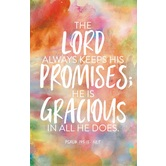 Salt & Light, The Lord Always Keeps His Promises Church Bulletins, 8 1/2 x 11 inches Flat, 100 Count