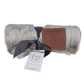 The Grandparent Gift Co., Softly Said Praying For You Blanket, Polyester, Gray, 50 x 60 inches
