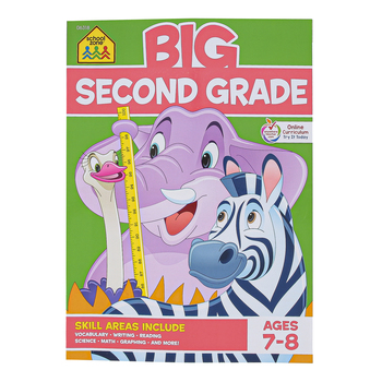 School Zone, Big Second Grade Workbook, Paperback, 320 Pages, Grade 2